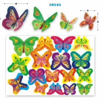 Vahvliliblikad Värvilised 17tk