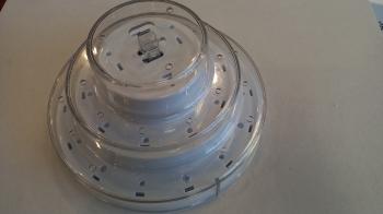 Pulgakoogialus plastikust 3-kordne Valge