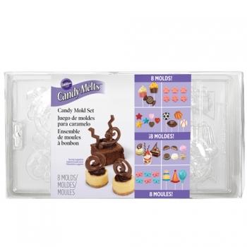 Šokolaadivormide komplekt plastikust 8tk