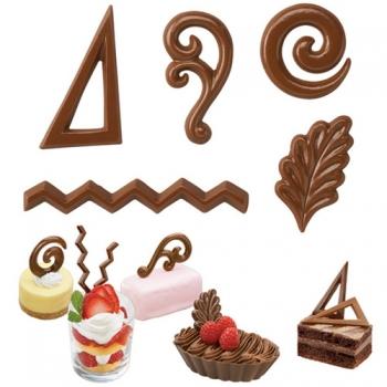 Šokolaadivorm plastikust Dessert figuurid