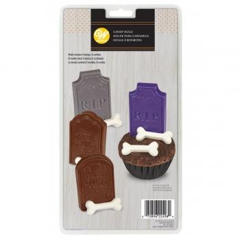 Šokolaadivorm hauaplaadid ja kondid 4+4tk