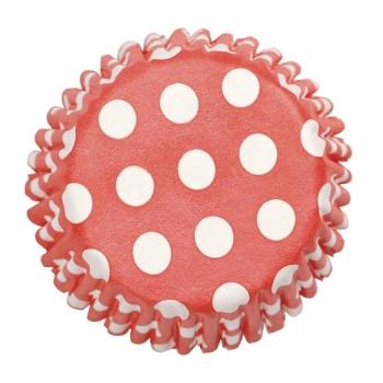 Muffinivormid Punased täpilised 54tk