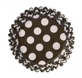 Muffinivormid Mustad-valgetäpilised 54tk