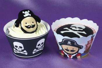 Iluümbrised muffinitele Piraadid 12tk