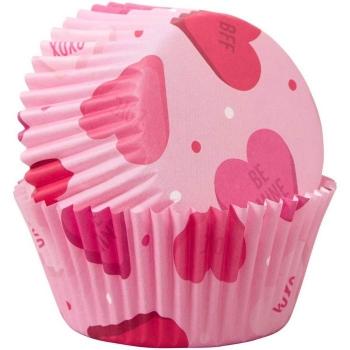 Muffinivormid roosad südametega 75tk