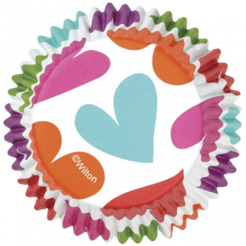 Muffinivormid Värvilised südamed 36tk