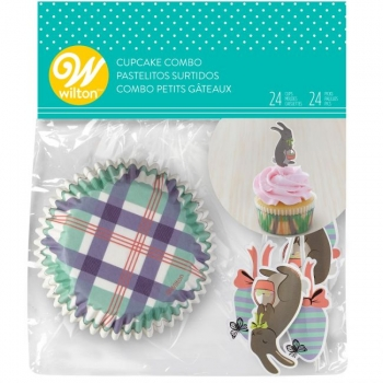 Muffinivormid dekoratsiooniga Jänesed ja munad 24+24tk