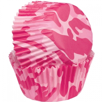 Militaarsed roosad muffinivormid 75tk