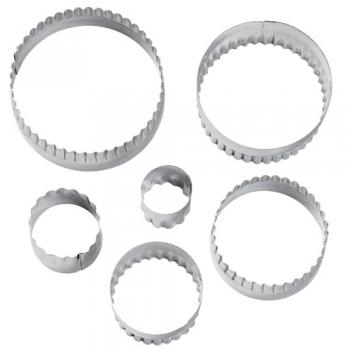 Metalllõikurite komplekt Ringid kahepoolsed 6tk