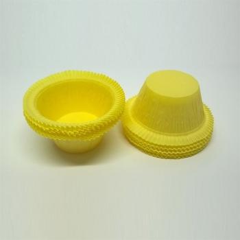 Muffinivormid äärega Kollased 25tk