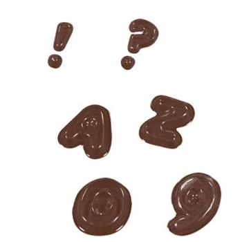 Šokolaadivorm Tähed ja numbrid