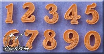 Silikoonvorm Numbrid Gradient fill