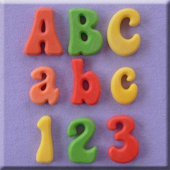 Silikoonvorm Tähed ja numbrid Fun Font