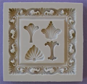 Silikoonvorm pildiraam ornamentidega