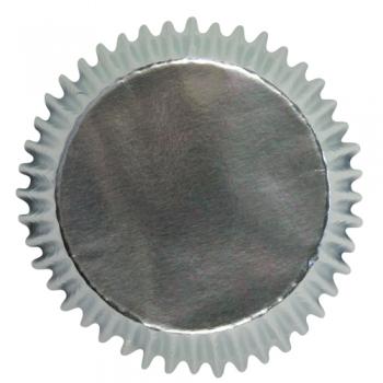 Muffinivormid Metallik hõbedased 30tk