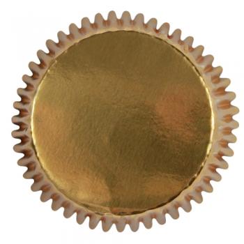 Muffinivormid metallik kuldsed 30tk