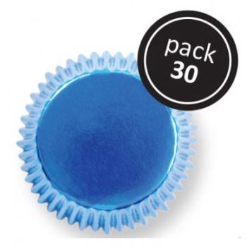 Muffinivormid Metallik sinised 30tk