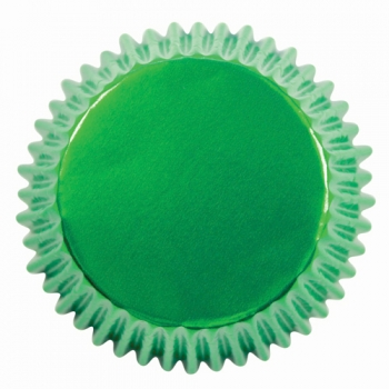 Muffinivormid Metallik rohelised 30tk