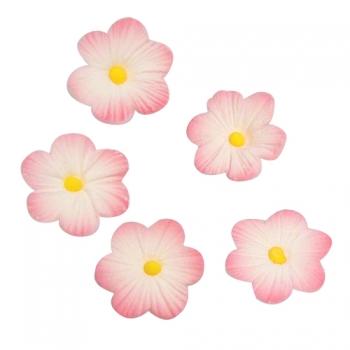 Suhkruglasuur lilled roosad 12tk