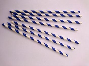 Paberkõrred Sinise-valge triibulised 20tk