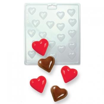 Šokolaadivorm plastikust Väikesed südamed