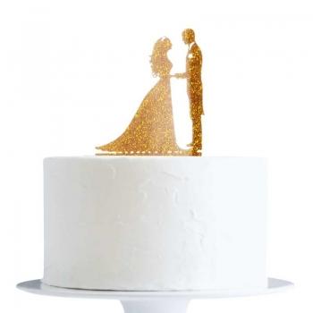 Topper Pruutpaar kuldne