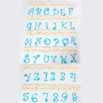 Plastplaadid Kirjatähed ja numbrid