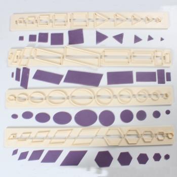 Plastplaadid Geomeetrilised kujundid 4tk