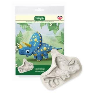Dinosauruse vorm silikoonist Triceratops