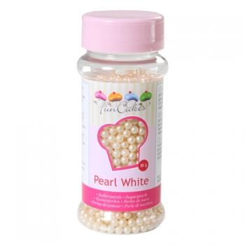 Suhkrupärlid pärlmutter valge Pearl White 80g