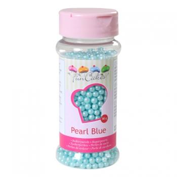 Suhkrupärlid pärlmutter sinine Pearl Blue 80g
