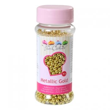 Suhkrupärlid metallik kuld Metallic Gold 80g