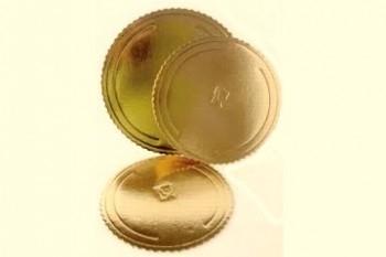 Tordialus Gofroo kuldne ümmargune 38cm