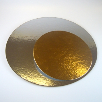 Tordipapp ümmargune kuld/hõbe 26cm