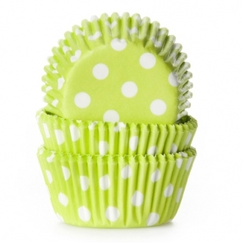 Muffinipaberid mini rohelised täpilised  60tk