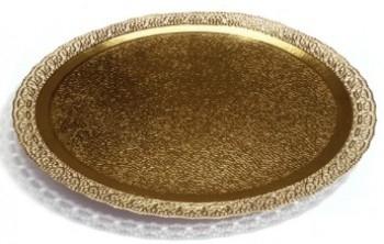 Koogialus Pitsiäärega kuldne 20cm