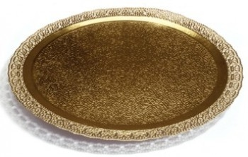 Koogialus Pitsiäärega kuldne 25cm
