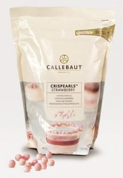 Krõbedad teraviljagraanulid maasikamaitselises šokolaadis Callebaut 72g