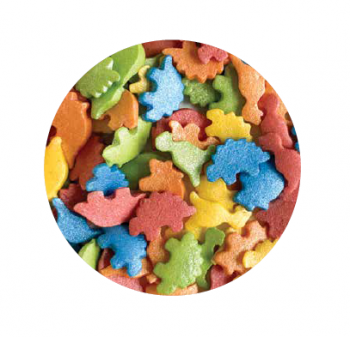 Konfetti dinosaurused mix 50g