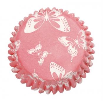 Muffinipaberid Roosad liblikatega 54tk