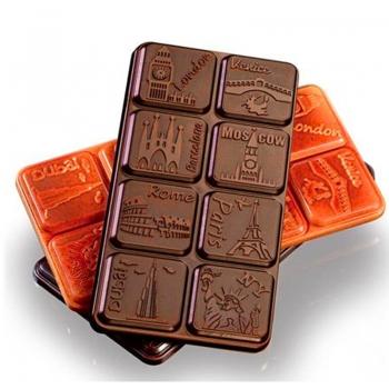 Šokolaaditahvlivorm Linnad