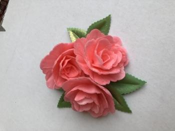Vahvlililled roosad keskmised 3tk+6lehte