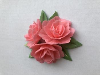 Vahvliroos roosa suur 3tk+6 lehte