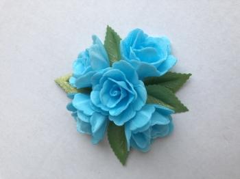 Vahvliroos sinine väike 5tk+ 5 lehte