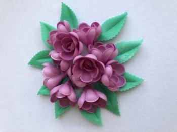 Vahvliroos lilla väike 10tk+ 10 lehte