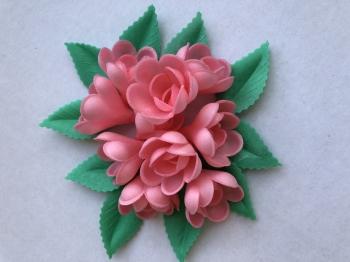 Vahvliroos  roosa väike 10tk+ 10 lehte