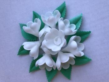 Vahvliroos valge väike 10tk+ 10 lehte