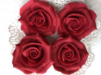 Martsipani roos punane suur 4tk