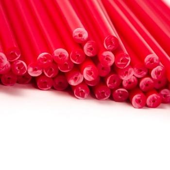 Pulgakoogipulgad Plastikust Punased 50tk