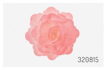 Vahvliroos suur roosa varjundiga 3tk + 6lehte